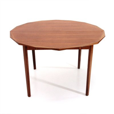 Mid Century Wooden Round Dining Tabletredici, 1960 Inside Famous Mid Century Rectangular Top Dining Tables With Wood Legs (View 20 of 20)