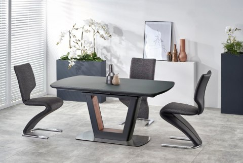 Modern Glass Top Extension Dining Tables In Matte Black With Most Up To Date Thomas Möbel > Modern Dining Table Bilotti 160 200 Cm Mdf (#14 of 20)