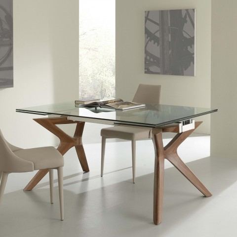 Modern Glass Top Extension Dining Tables In Stainless Inside Most Current Extending Dining Table Kentucky, Tempered Glass And Stainless Steel (#15 of 20)