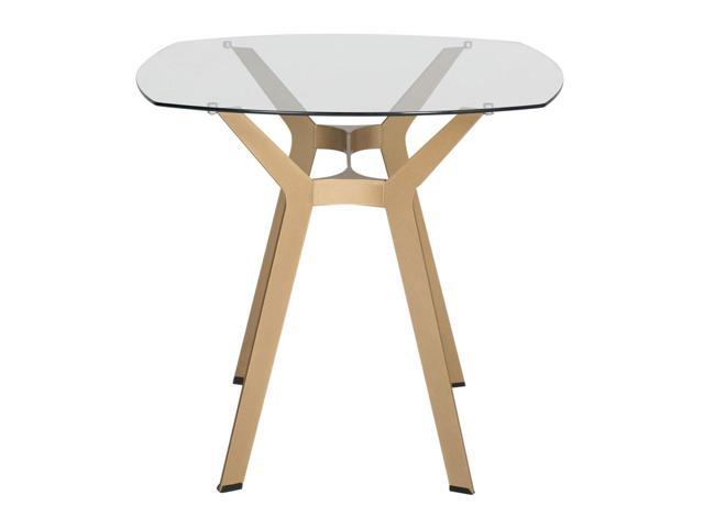 """Modern Gold Dining Tables With Clear Glass Pertaining To Well Known Studio Designs Home Living Room 48"""" Archtech Modern Glass (#11 of 21)"""