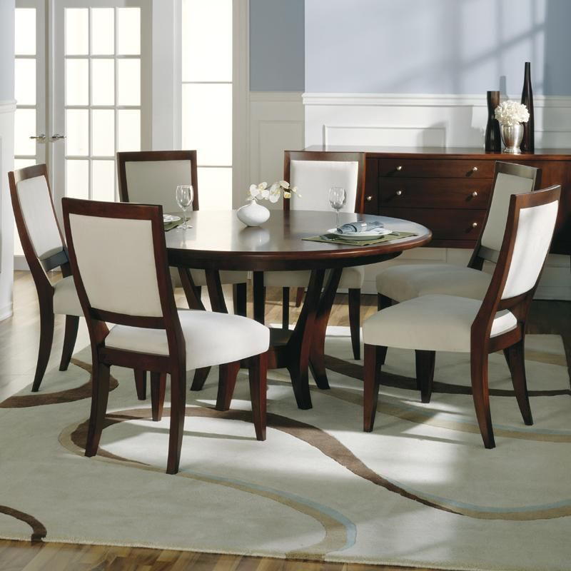 Modern Round Dining Room Tables For 6 Sherbrook Round Dining With Regard To 2020 Transitional 6 Seating Casual Dining Tables (View 4 of 20)