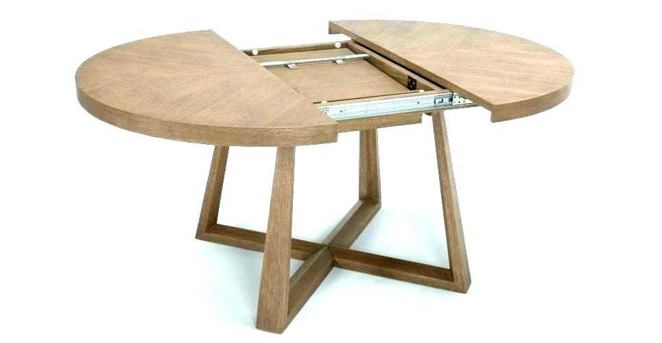 Modern Round Extendable Dining Table – Worldofseeds (#6 of 20)