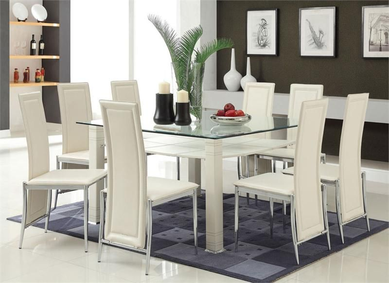 Modern Throughout 2019 Chrome Contemporary Square Casual Dining Tables (#10 of 20)