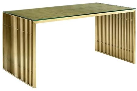 Modway Eei3038Gld Within Most Popular Dining Tables With Brushed Gold Stainless Finish (#12 of 20)
