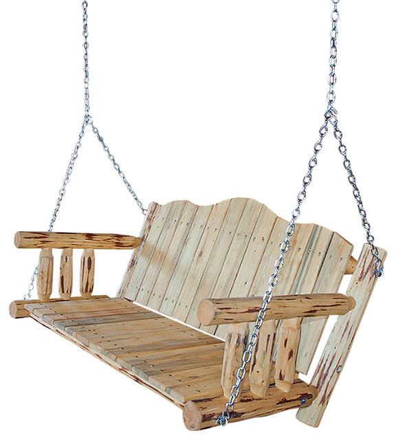Montana Collection Porch Swing, Ready To Finish Pertaining To Porch Swings With Chain (#9 of 20)