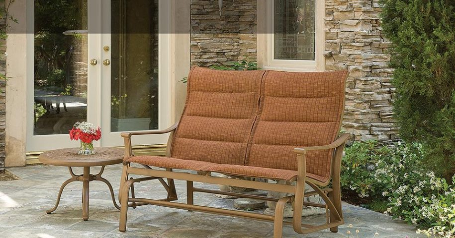 Montreaux Padded Sling Double Glider – Labadies Patio In Padded Sling Double Glider Benches (View 19 of 20)