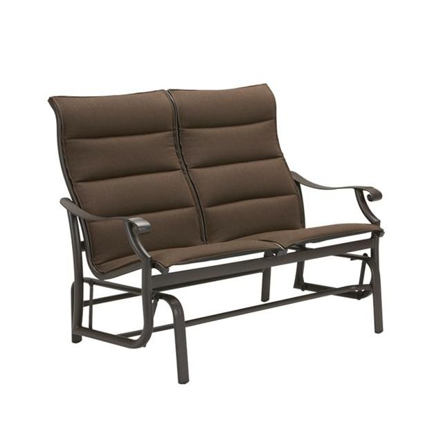 Montreux Padded Sling Double Glider Throughout Padded Sling Loveseats With Cushions (#10 of 20)