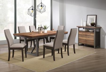 Most Current Coaster Contemporary 6 Seating Rectangular Casual Dining Tables With Coaster Spring Creek Collection 106581 83 S8 8 Piece Dining (View 10 of 20)