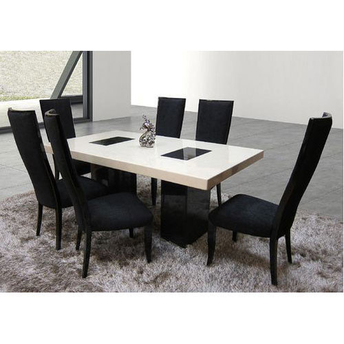 Most Current Dining Tables With White Marble Top Inside Marble Top Dining Table Set (#11 of 20)