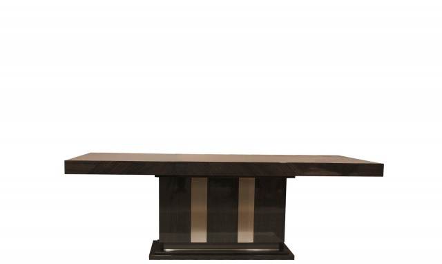Most Current Fumed Oak Dining Tables Intended For Marbella – 180Cm Rectangle Fixed Table In Fumed Oak High Gloss Finish (#12 of 20)