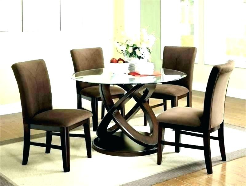 Most Current Modern Round Glass Top Dining Tables Pertaining To Round Glass Top Dining Tables – Kermitslape (#9 of 20)