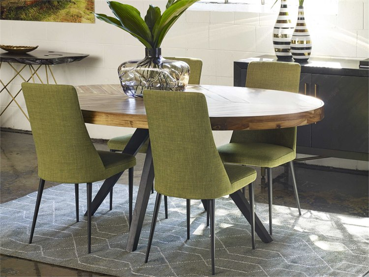 Most Current Moe's Home Collection Parq Cappuccino 72'' X 42'' Oval Dining Table Regarding Cappuccino Finish Wood Classic Casual Dining Tables (View 18 of 20)