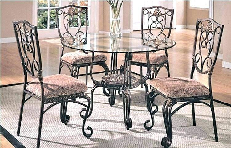 Popular Photo of Retro Round Glasstop Dining Tables