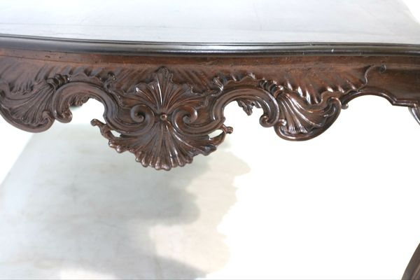 Most Popular Antique Walnut Dining Table With Regard To Walnut And Antique White Finish Contemporary Country Dining Tables (#7 of 20)
