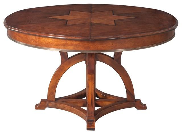 Most Popular Austin Jupe Dining Table – Old World Walnut Finish – Medium Inside Medium Dining Tables (View 10 of 20)