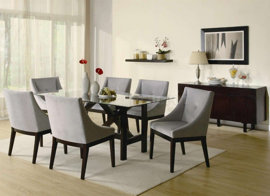 Most Popular Coaster Contemporary 6 Seating Rectangular Casual Dining Tables Within Dining Room (View 7 of 20)