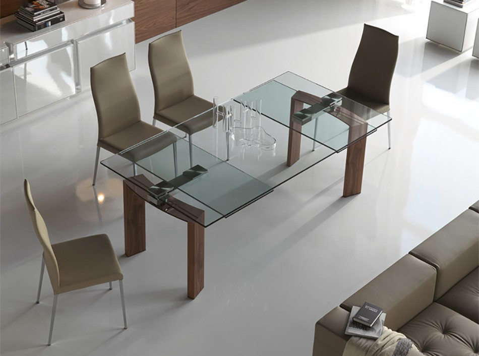 Most Popular Daytona Rectangular Dining Tablecattelan Italia In Rectangular Glasstop Dining Tables (#8 of 20)