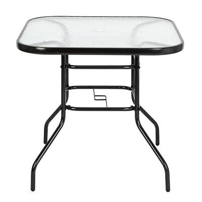 Most Popular Patio Square Bar Dining Tables Intended For Outdoor Dining Table Square Toughened Glass Table Yard (View 6 of 20)
