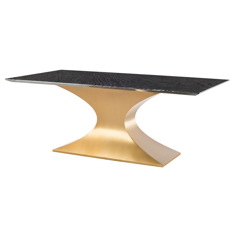 Most Popular Praetorian – Nuevo Pertaining To Dining Tables With Brushed Gold Stainless Finish (#14 of 20)