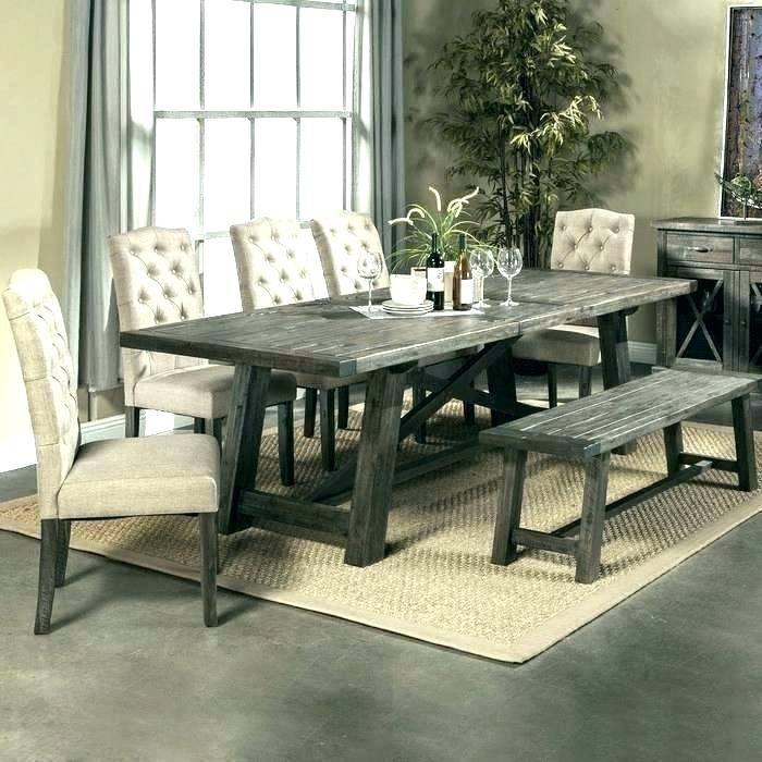 Most Recent Glamorous Rustic Wood Dining Table Small Surprising Intended For Rustic Mid Century Modern 6 Seating Dining Tables In White And Natural Wood (View 9 of 20)