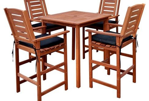 Most Recent Patio Bar Height Dining Table Set Fantasy Miramar 5Pc Inside Patio Square Bar Dining Tables (View 7 of 20)