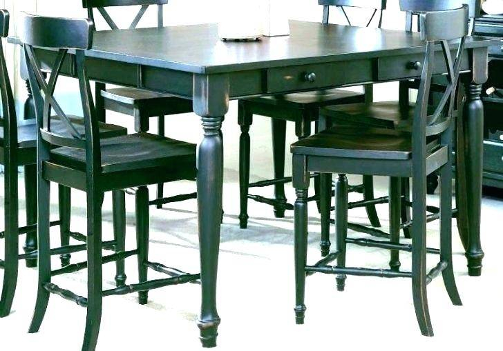 Most Recent Patio Square Bar Dining Tables For Counter High Dining Table Square For Bar Height Patio Set (View 8 of 20)