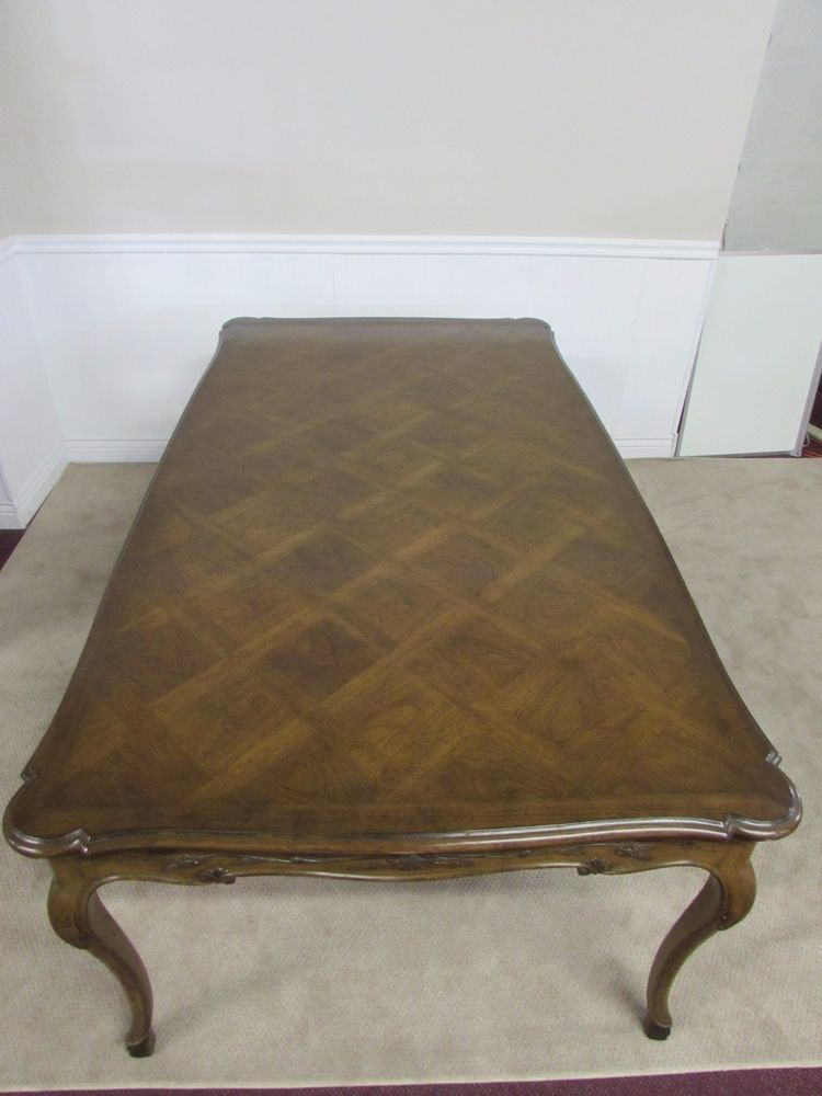 Most Recent Transitional Antique Walnut Square Casual Dining Tables Regarding Vintage Auffray & Co French Walnut Dining Table, Custom Pads (View 18 of 20)