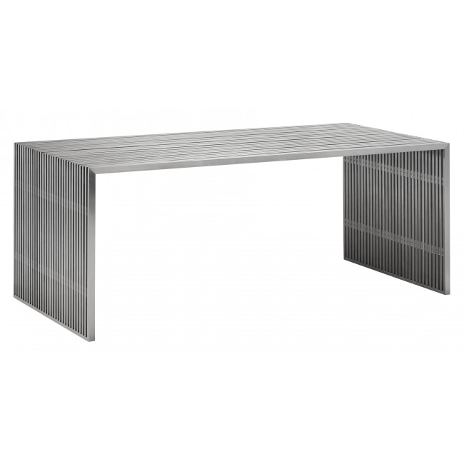 Most Recently Released 100082 – Novel Dining Table Brushed Stainless Steel Intended For Dining Tables With Brushed Stainless Steel Frame (View 9 of 20)