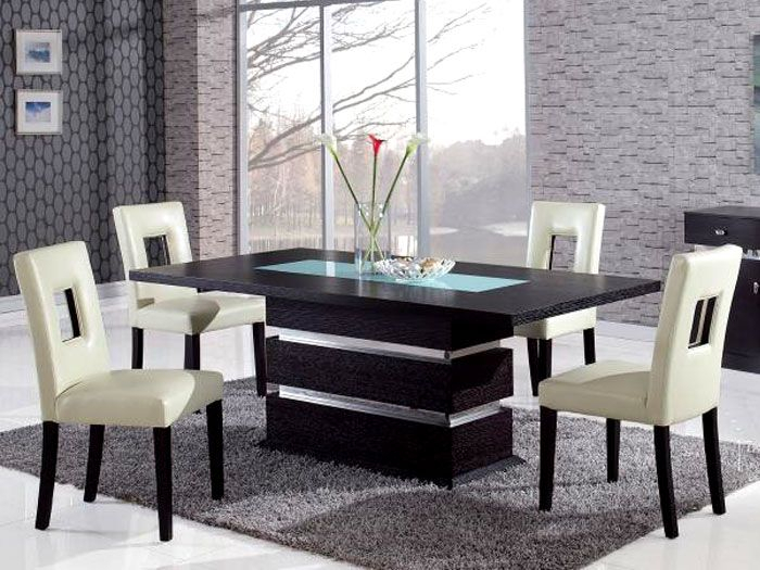 Most Recently Released Contemporary 4 Seating Oblong Dining Tables With Regard To Conflex Rectangle Dining Table With 4 Seater (#15 of 20)