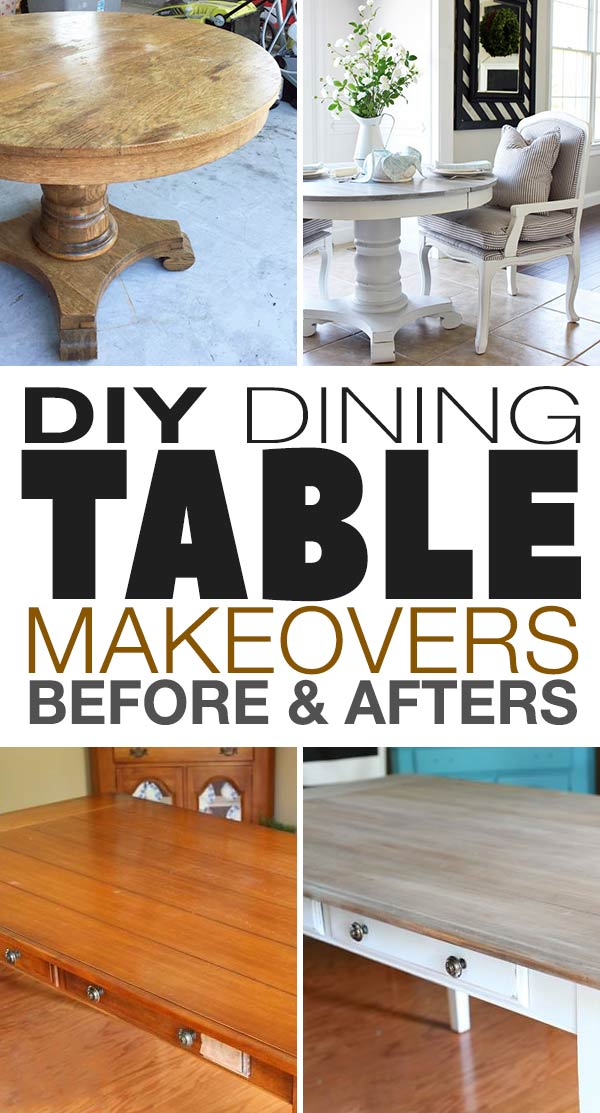 Most Recently Released Diy Dining Table Makeovers – Before & Afters • The Budget Inside Wood Kitchen Dining Tables With Removable Center Leaf (View 16 of 20)
