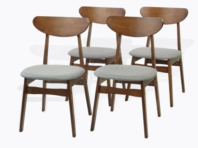 Most Recently Released Medium Elegant Dining Tables Inside Modern Set Of 4 Yumiko Dining Kitchen Side Chairs Solid Wood Medium Brown (#16 of 20)