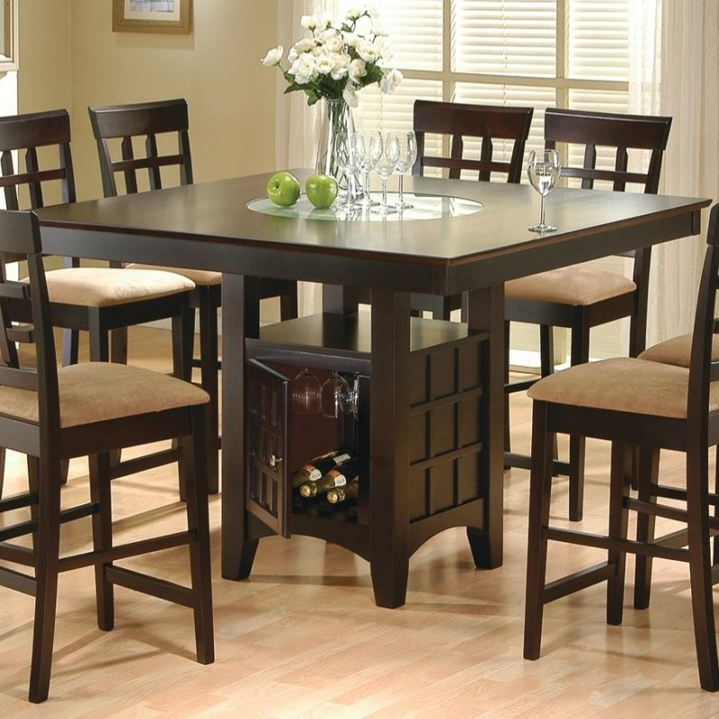 Most Recently Released Mix & Match Counter Height Dining Table With Storage With Coaster Contemporary 6 Seating Rectangular Casual Dining Tables (View 12 of 20)