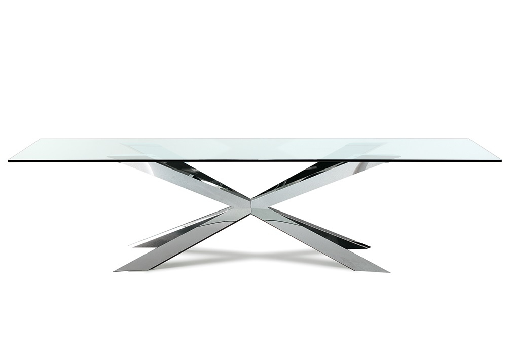 Most Up To Date Cattelan Italia – Spyder Rectangular Glass Dining Table With Regard To Glass Dining Tables With Metal Legs (#14 of 20)