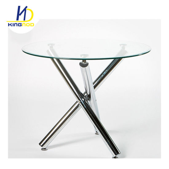 Most Up To Date Replica Best Selling Glass Top Dining Table With Chromed Leg Inside Eames Style Dining Tables With Chromed Leg And Tempered Glass Top (#13 of 20)