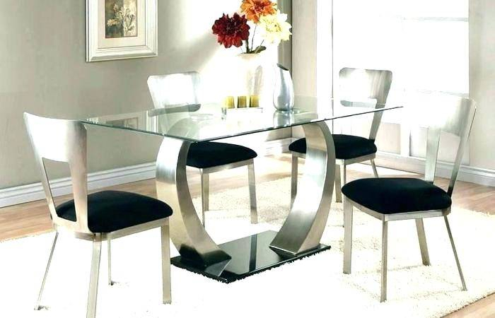 Most Up To Date Retro Round Glasstop Dining Tables With Regard To Surprising Glass Top Dining Table And 4 Chairs Furniture (#11 of 20)