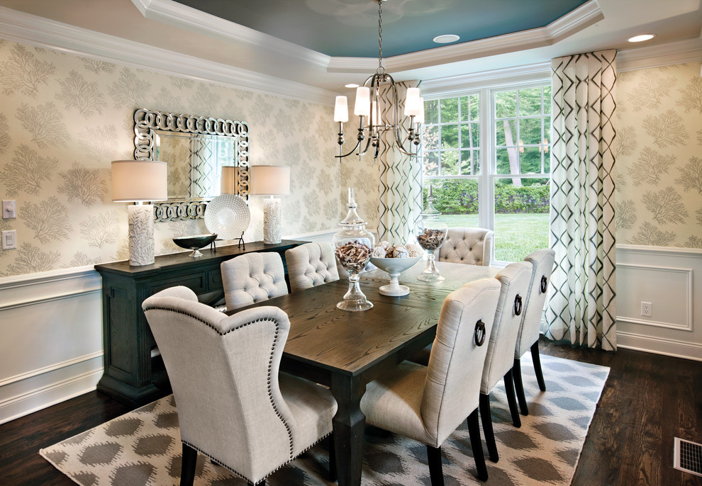 Nailhead Dining Chairs Dining Room Transitional With Inside Current Transitional Rectangular Dining Tables (#10 of 20)
