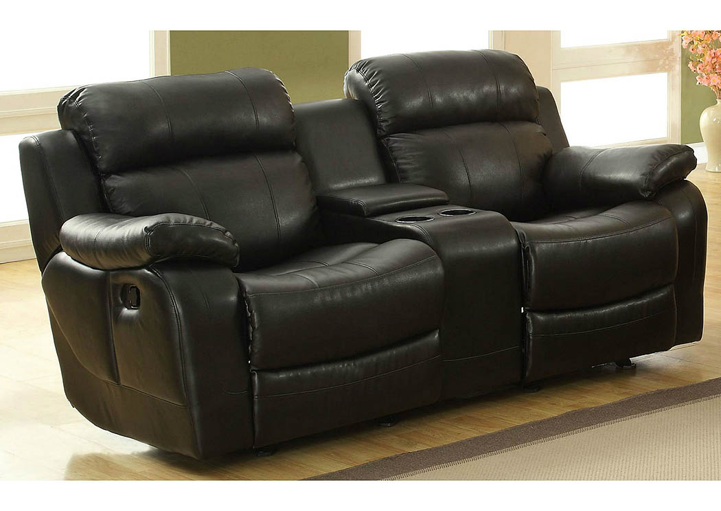 Nationwide Mattress & Furniture Warehouse Marille Black For Double Glider Loveseats (#16 of 20)