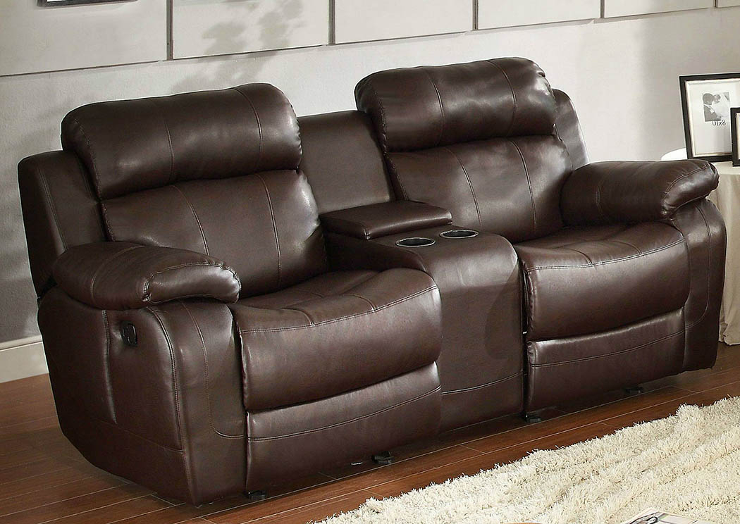 Nationwide Mattress & Furniture Warehouse Marille Brown With Regard To Double Glider Loveseats (#17 of 20)