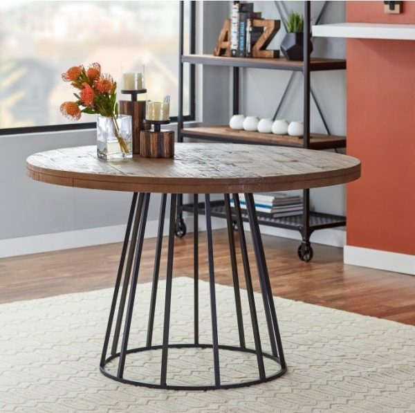 Neo Round Dining Tables Intended For Well Known Round Wood And Metal Dining Table Neo (View 7 of 20)