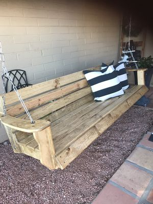 New And Used Porch Swing For Sale In Avondale, Az – Offerup For Casualthames Black Wood Porch Swings (View 11 of 20)