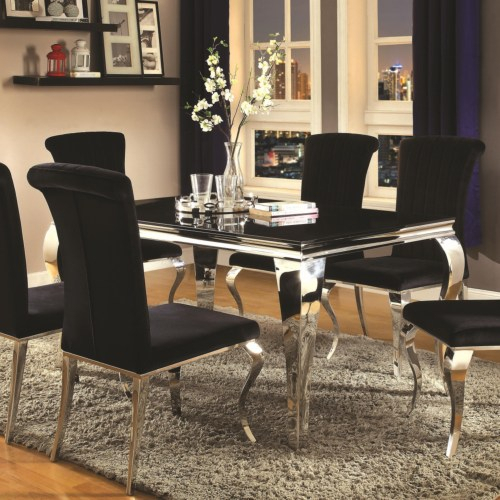 Newest Carone Contemporary Rectangular Dining Table Intended For Contemporary Rectangular Dining Tables (View 8 of 20)