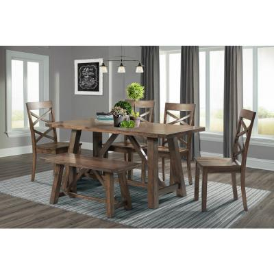 Newest Charcoal Transitional 6 Seating Rectangular Dining Tables For 6 People – Dining Room Sets – Kitchen & Dining Room (View 17 of 20)