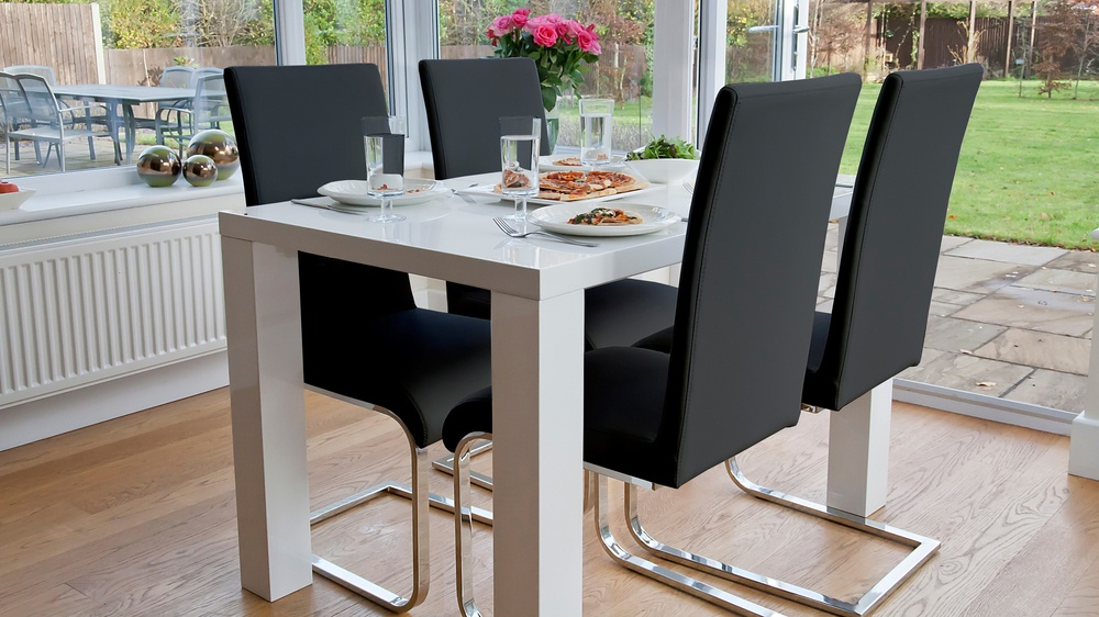Newest Fern And Imola 4 Seater Dining Set Intended For Contemporary 4 Seating Oblong Dining Tables (#17 of 20)