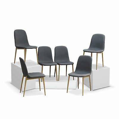 Newest Kitchen Furniture Eames Style Fabric Dining Chair Wooden Look Legs (Set Of  4) (#18 of 20)