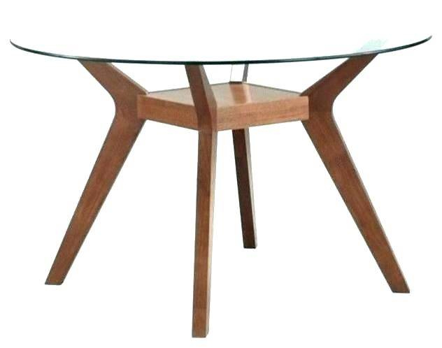 Newest Modern Round Glass Top Dining Tables For Modern Round Dining Table Glass Top Mid Century Room (#14 of 20)
