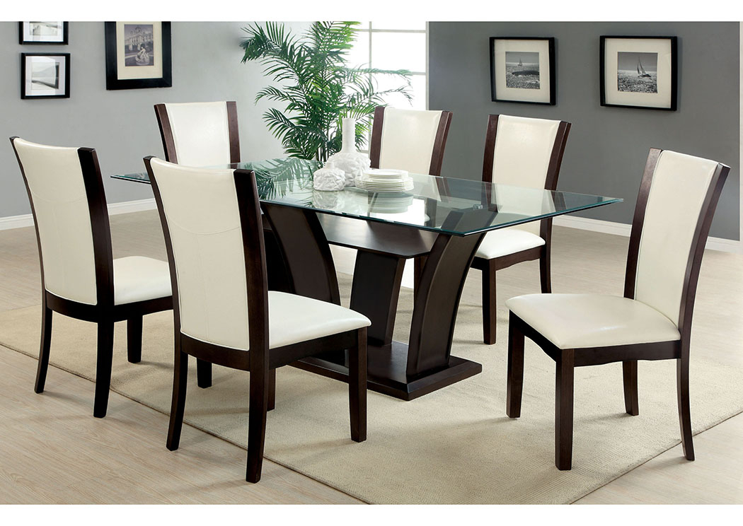 Newest Rectangular Glasstop Dining Tables Pertaining To 5Th Avenue Furniture – Mi Manhattan L Rectangle Glass Top (View 15 of 20)