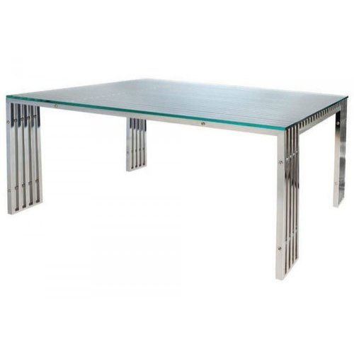 Newest Steel And Glass Rectangle Dining Tables Inside Rectangle Glass Dining Table (View 5 of 20)