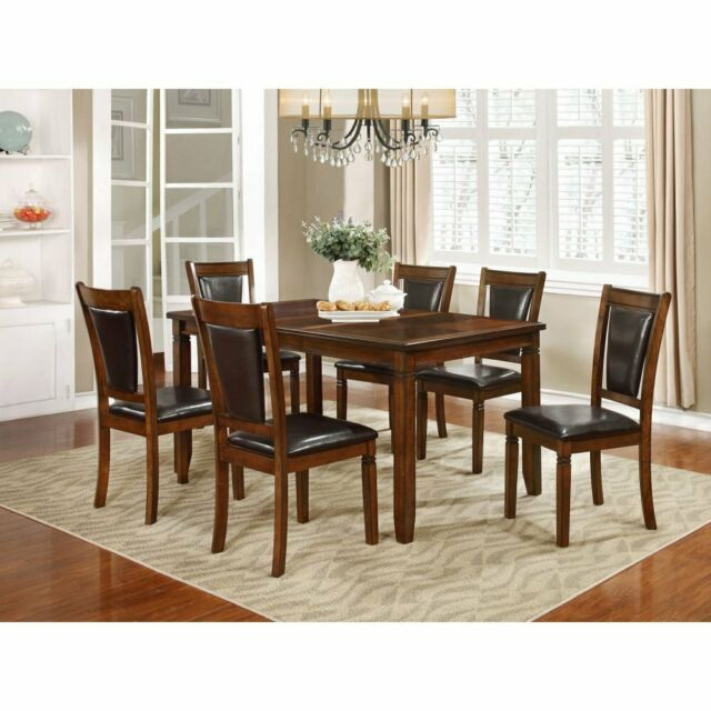 Nh Designs 7 Piece Formal Transitional Dining Table Set For Most Current Transitional 4 Seating Drop Leaf Casual Dining Tables (#12 of 20)