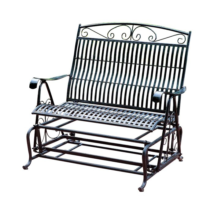 Popular Photo of Iron Double Patio Glider Benches