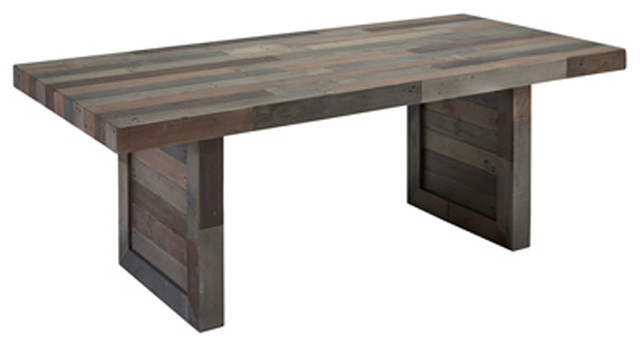"Norman Reclaimed Pine 82"" Distressed Dining Tablekosas Home, Charcoal For Current Country Dining Tables With Weathered Pine Finish (#17 of 20)"